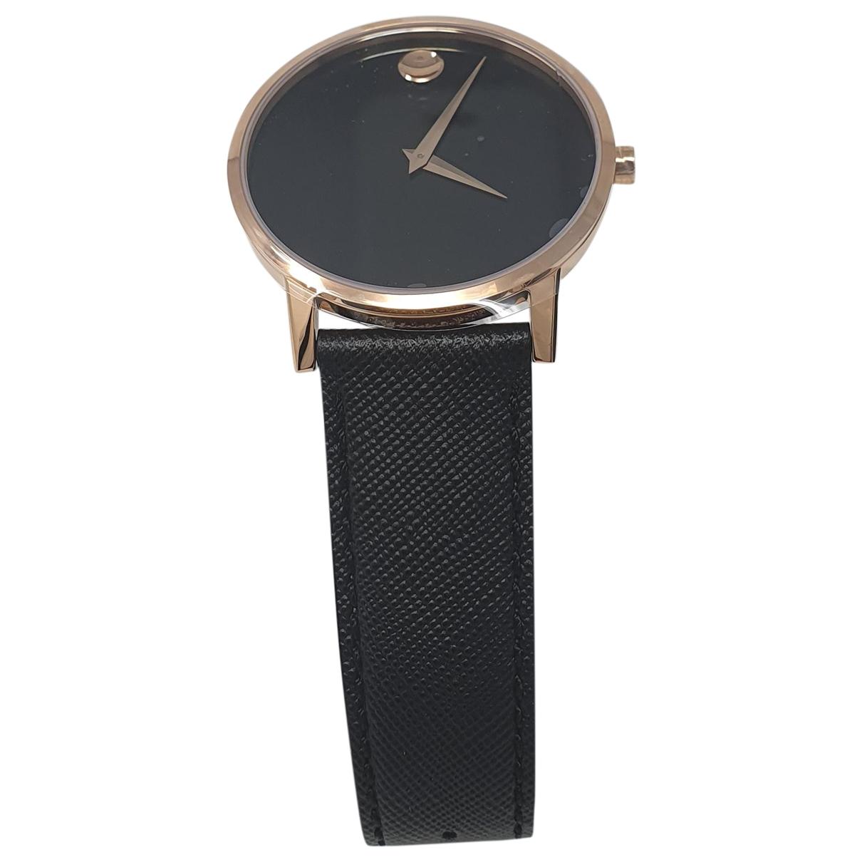 Movado \N Black Steel watch for Men \N