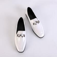 Loafers mit Perlen Dekor