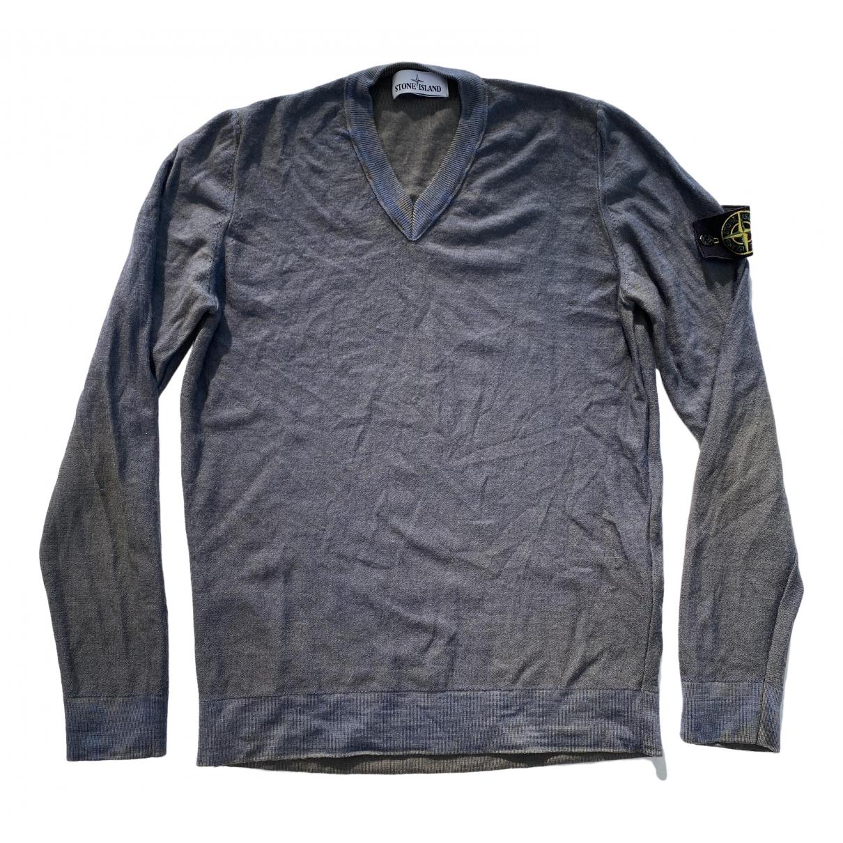 Stone Island - Pulls.Gilets.Sweats   pour homme en laine - gris