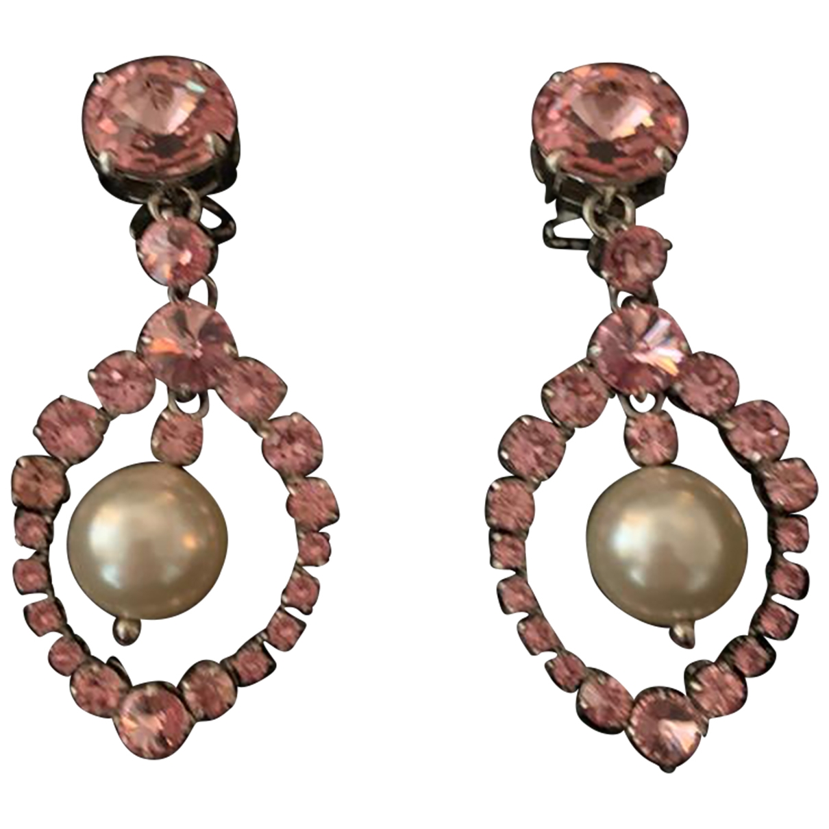 Miu Miu - Boucles doreilles   pour femme en metal - rose