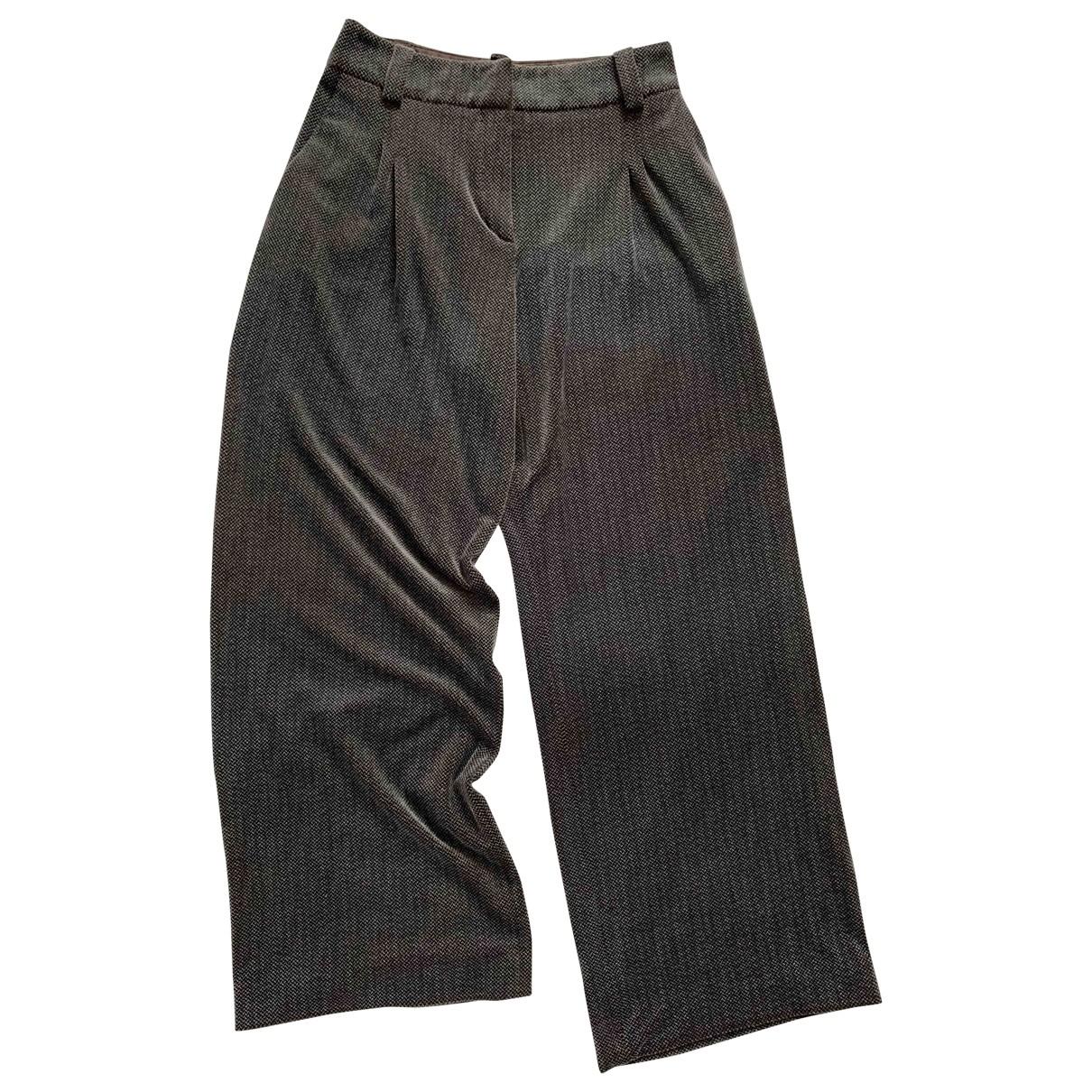 Giorgio Armani \N Brown Trousers for Women 44 IT