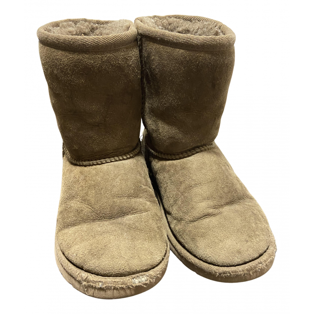 Ugg N Beige Suede Boots for Kids 29 FR