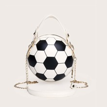 Girls Football Shaped Satchel Bag