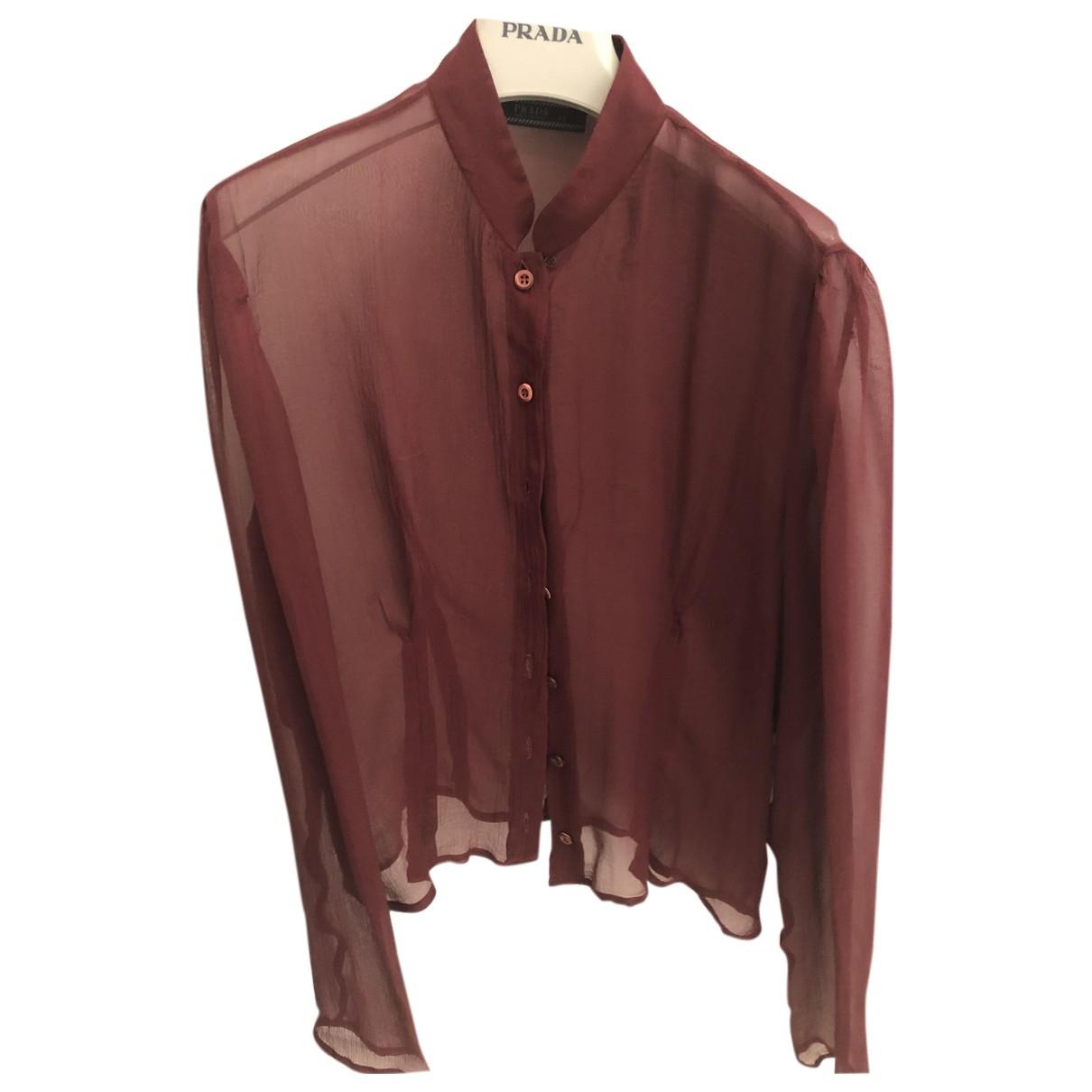 Prada \N Burgundy Silk  top for Women 44 IT
