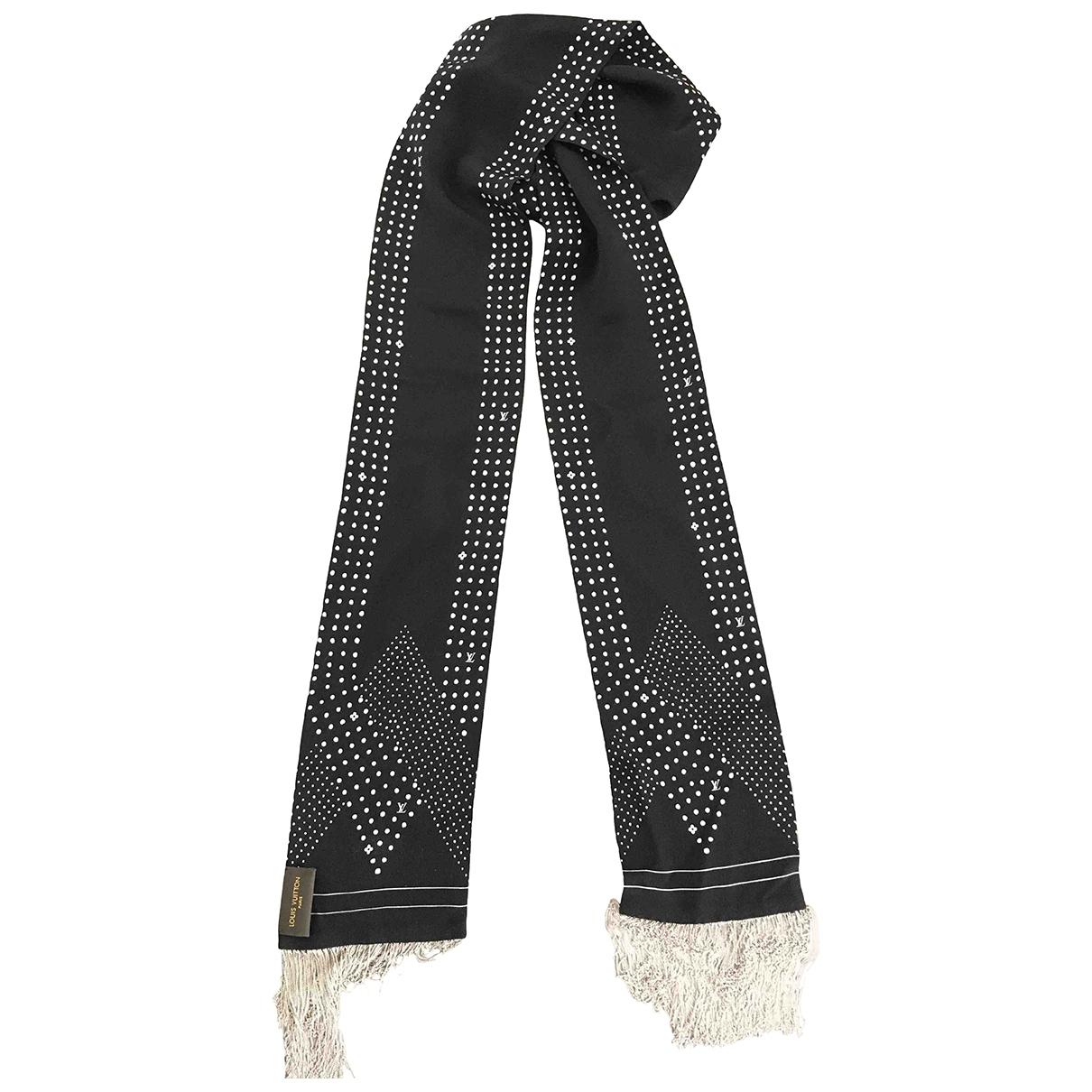 Louis Vuitton \N Black Silk scarf for Women \N