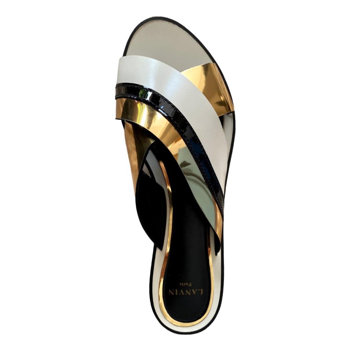Lanvin \N Clogs in  Gold Leder