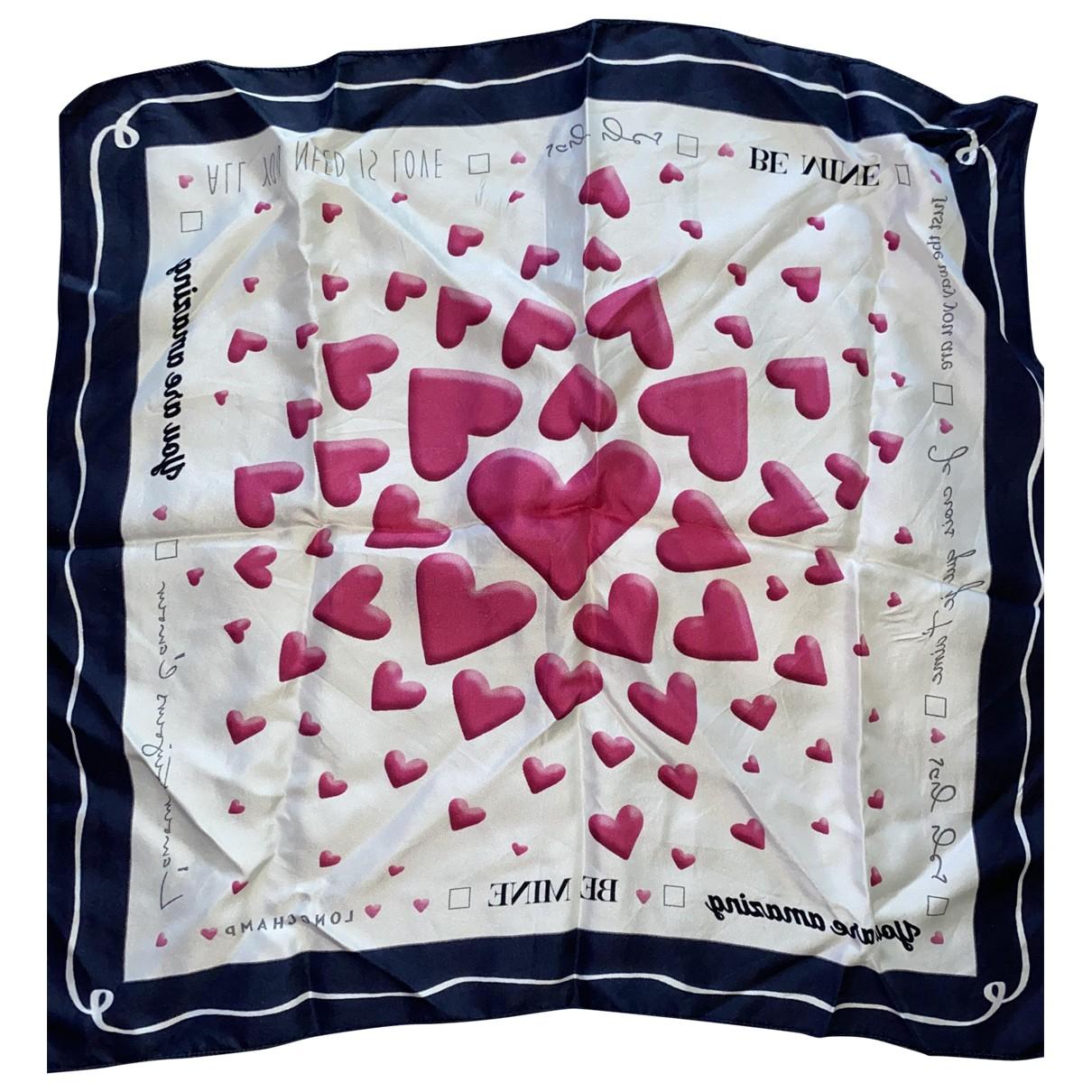 Longchamp - Foulard   pour femme en soie - rose