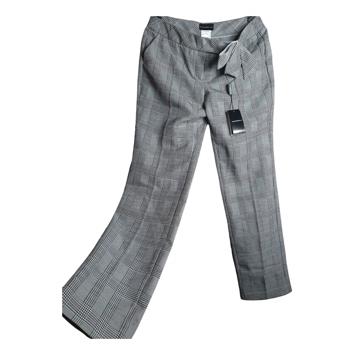 Emporio Armani N Multicolour Wool Trousers for Women 46 IT