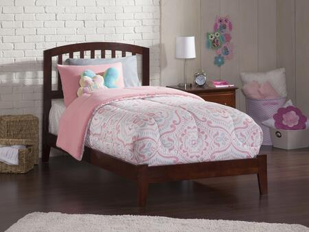 Richmond Collection AR8811034 Twin Extra Long Size Traditonal Bed with Mission Design Slat Headboard  Modern Style and Eco-Friendly Solid Hardwood
