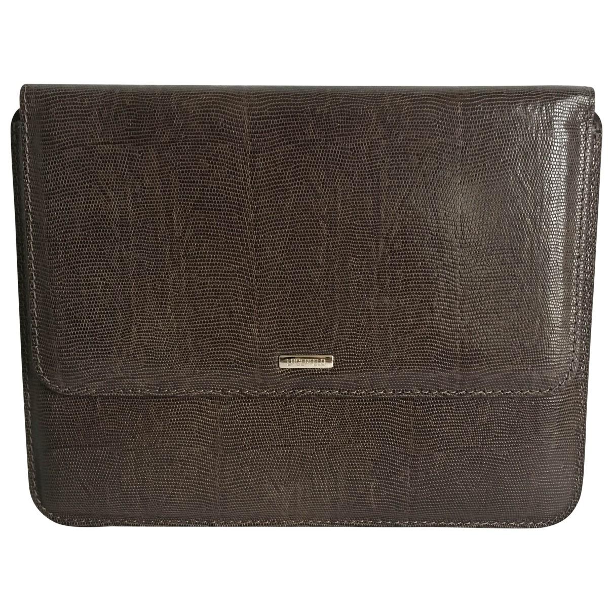 Karl Lagerfeld - Accessoires   pour lifestyle en cuir - marron