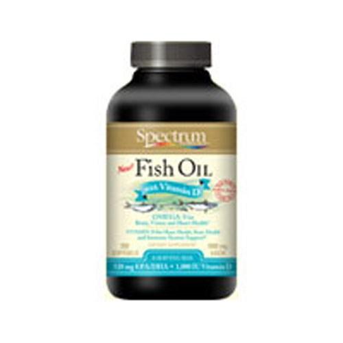 Fish Oil Vitamin D 250 Sgels by Spectrum Essentials