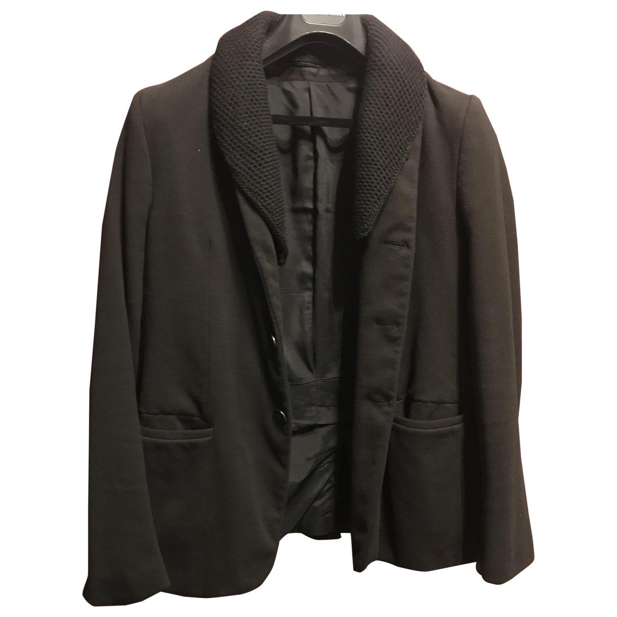 Emporio Armani - Vestes.Blousons   pour homme en coton - noir
