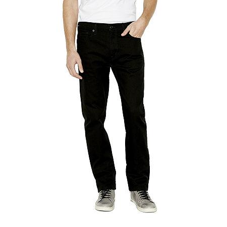 Levi's Mens 513 Stretch Slim Fit Jean, 36 32, Black