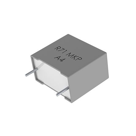 KEMET 1μF Polypropylene Capacitor PP 275 V ac, 630 V dc ±10% Tolerance Through Hole R71 Series (250)