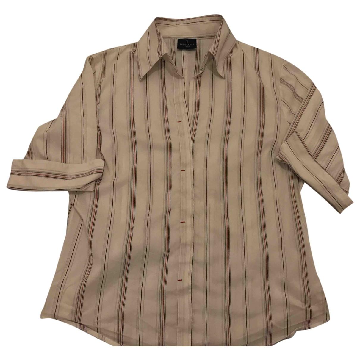 Trussardi Jean - Top   pour femme en coton - blanc