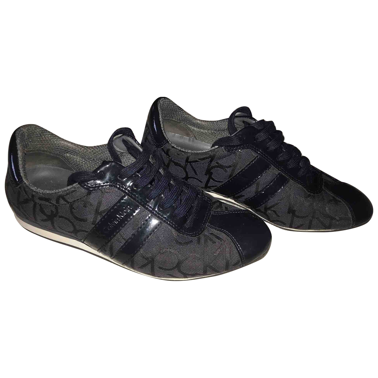 Calvin Klein \N Blue Patent leather Trainers for Women 37 EU