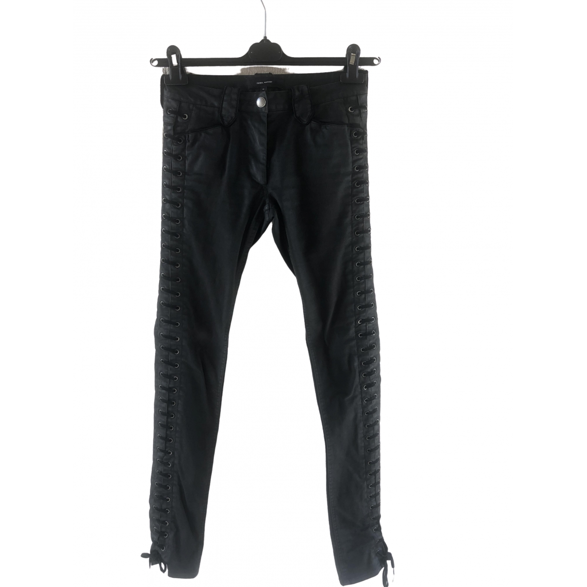 Isabel Marant \N Black Cotton Trousers for Women 36 FR