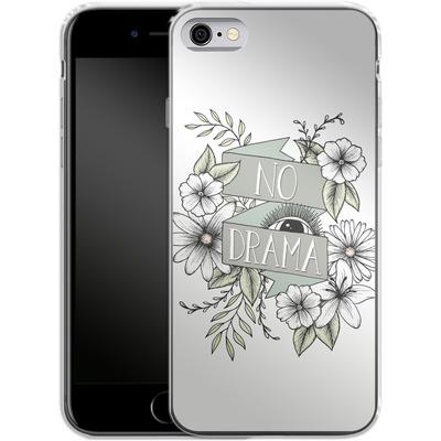 Apple iPhone 6s Silikon Handyhuelle - No Drama - Green von Barlena