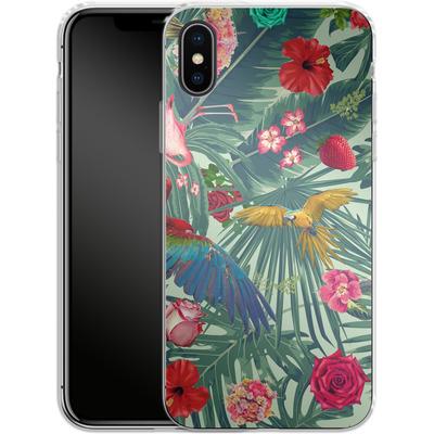 Apple iPhone X Silikon Handyhuelle - Tropic Fun von Mark Ashkenazi