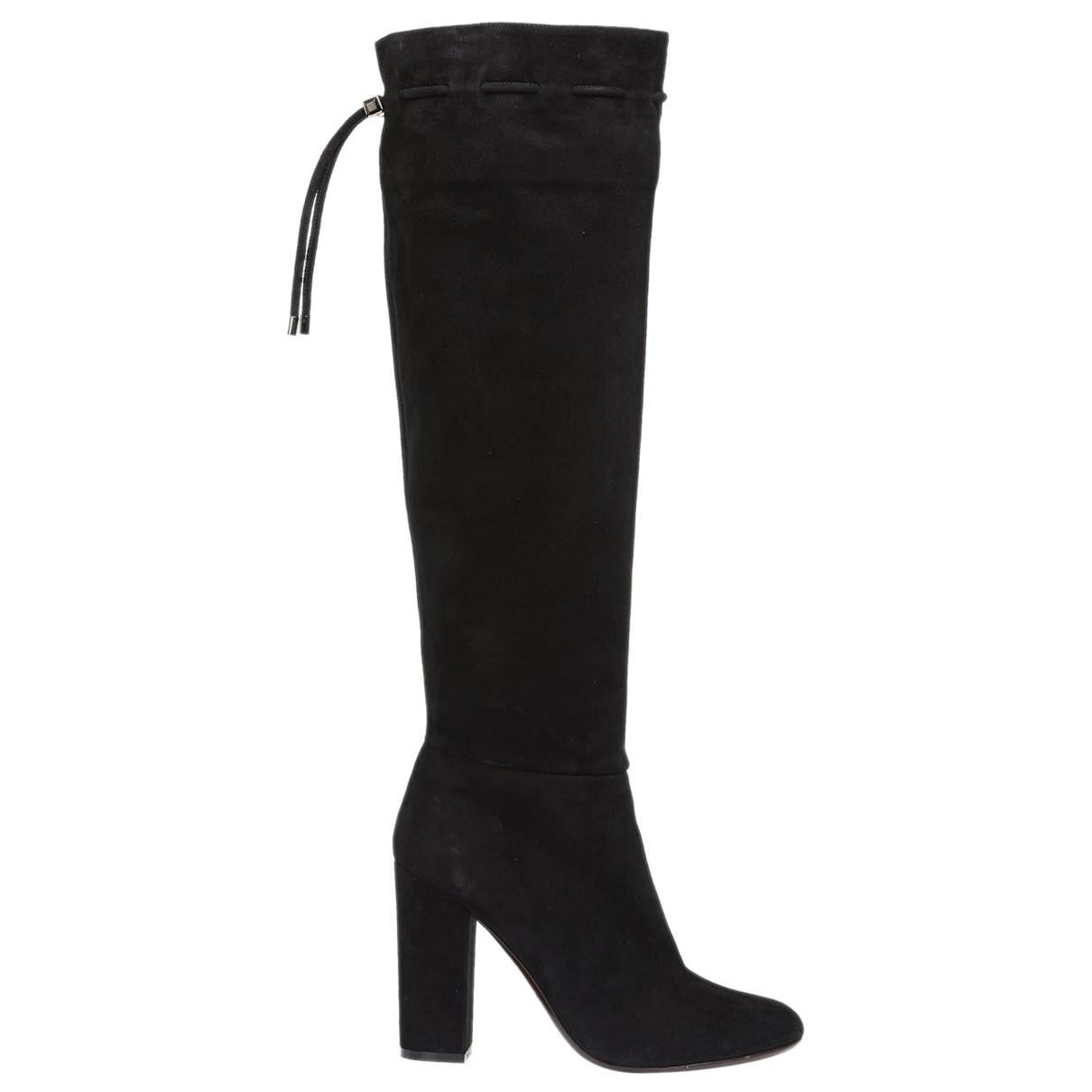 Lanvin \N Black Suede Boots for Women 38.5 IT