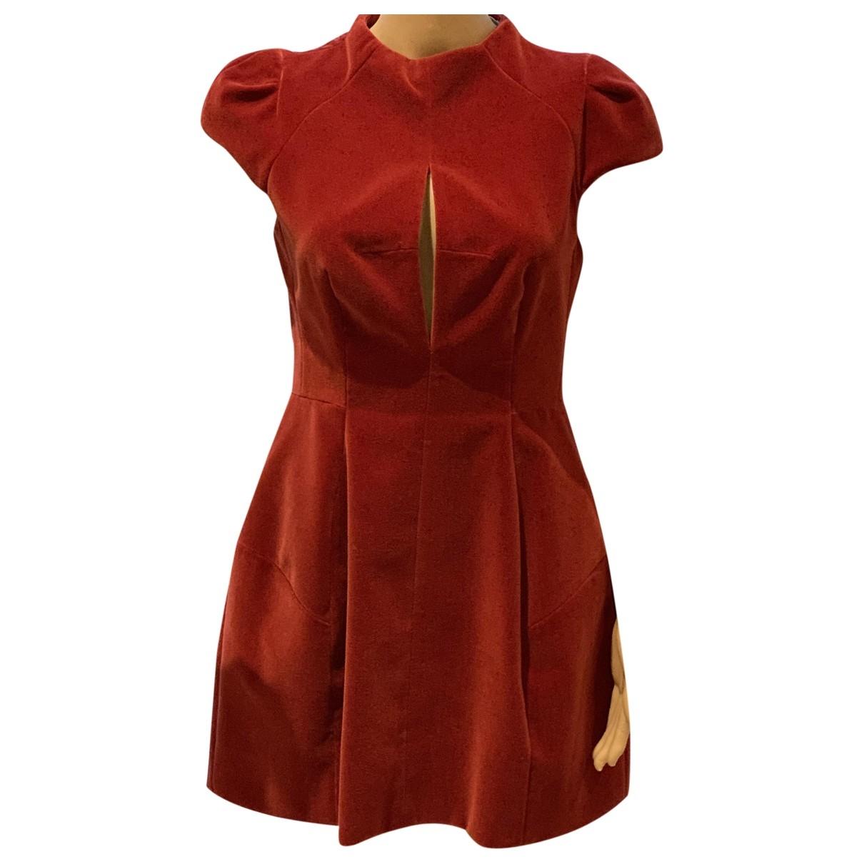 Carven \N Kleid in  Rot Baumwolle