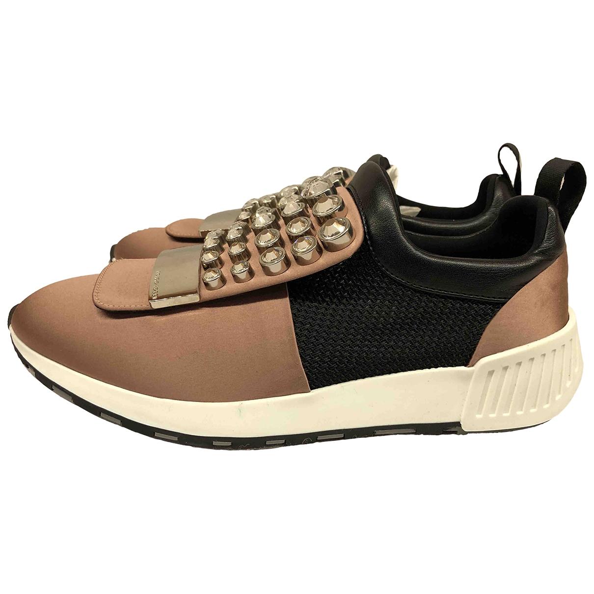 Sergio Rossi SR1 Sneakers in  Rosa Leinen