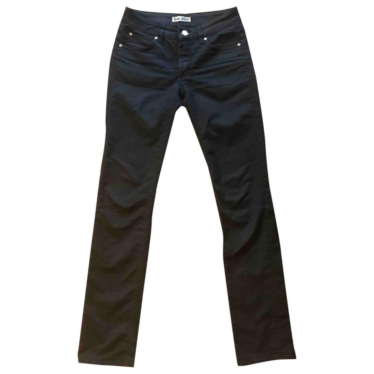 Acne Studios Hex Black Cotton Jeans for Women 29 US
