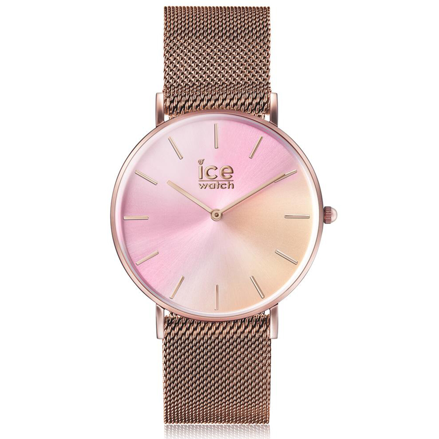 Ice-Watch Women's City Sunset Milanese 016025 Rose-Gold Stainless-Steel Quartz Fashion Watch