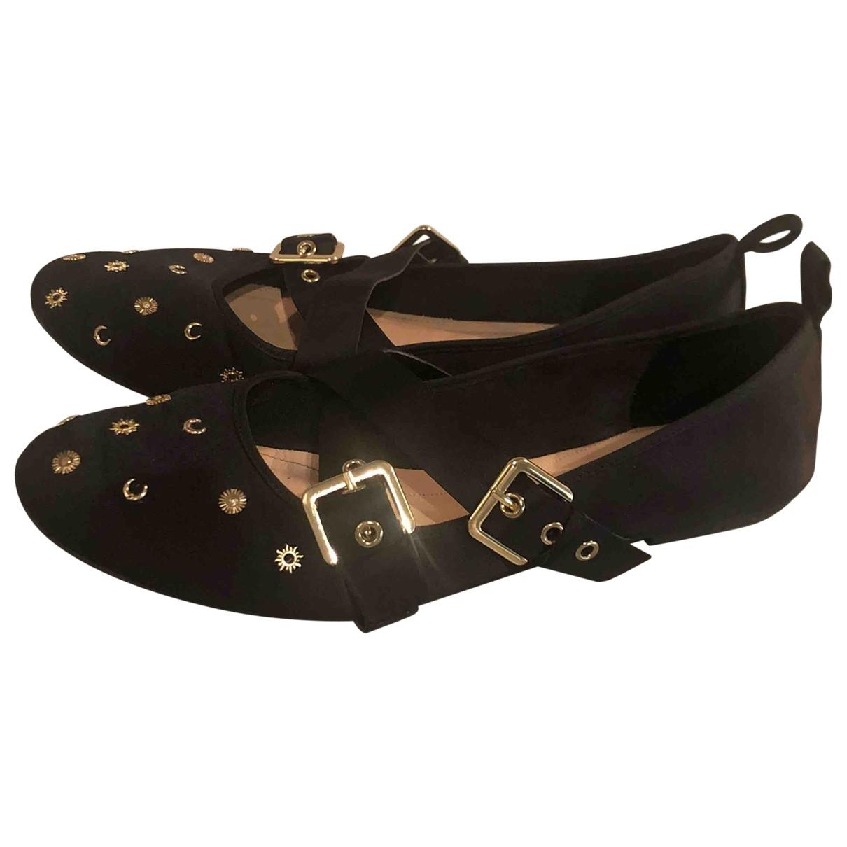 Zara - Ballerines   pour femme en toile - noir