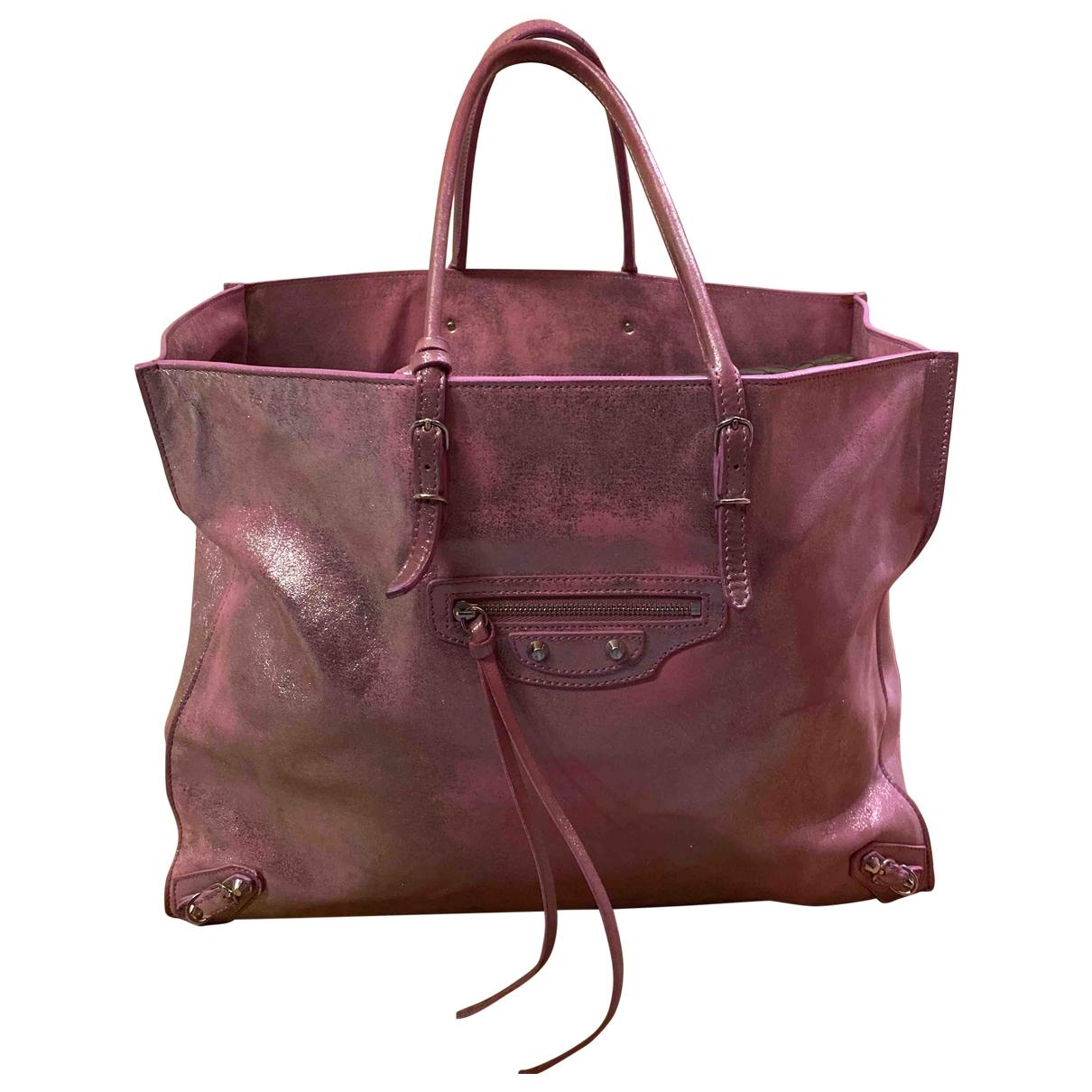 Balenciaga Papier Pink Leather handbag for Women \N