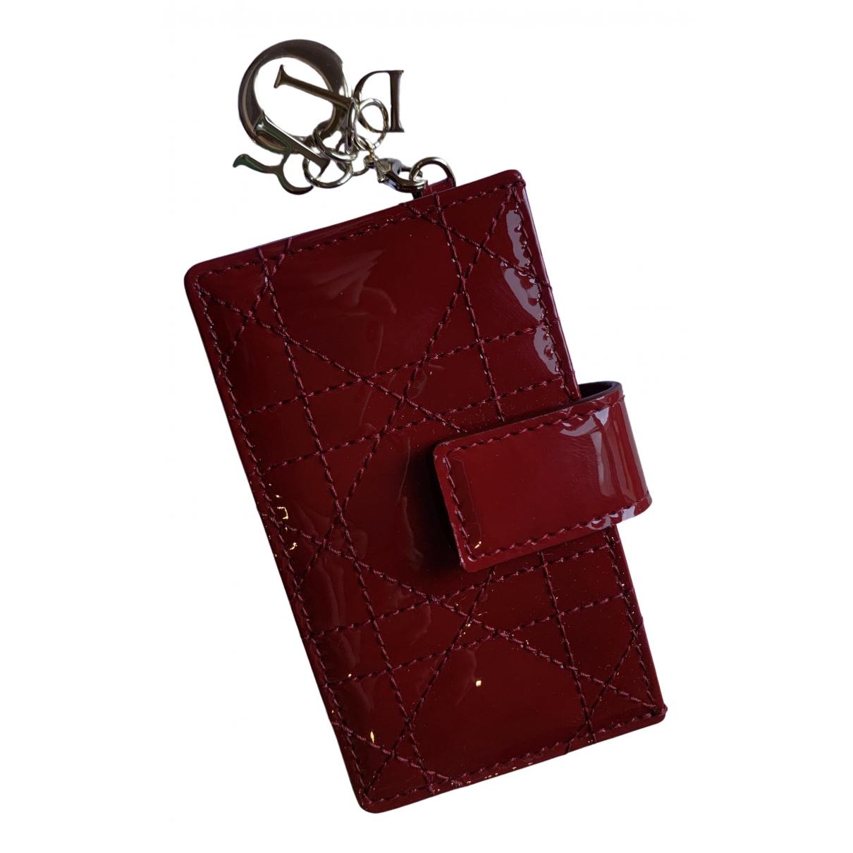 Dior - Petite maroquinerie   pour femme en cuir verni - rouge