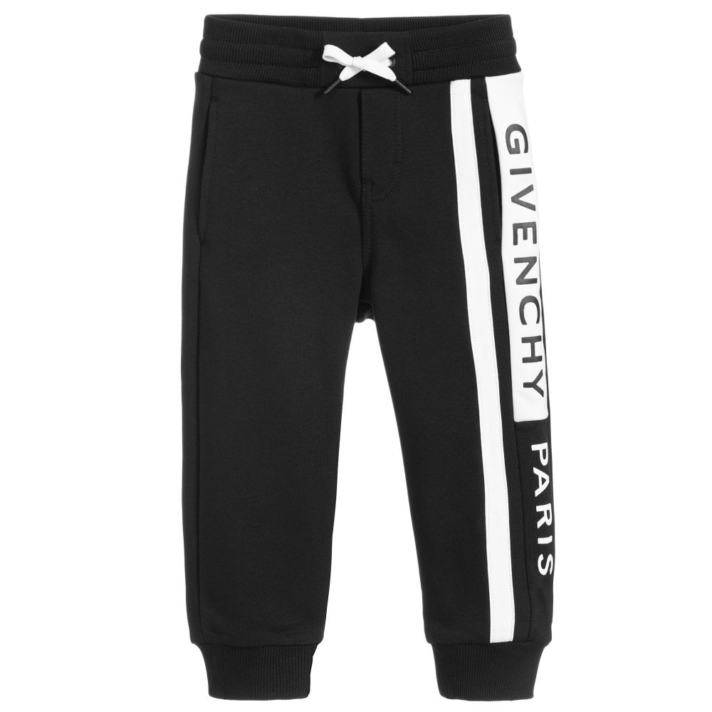 Givenchy Kids Logo Print Joggers Colour: BLACK, Size: 10 YEARS