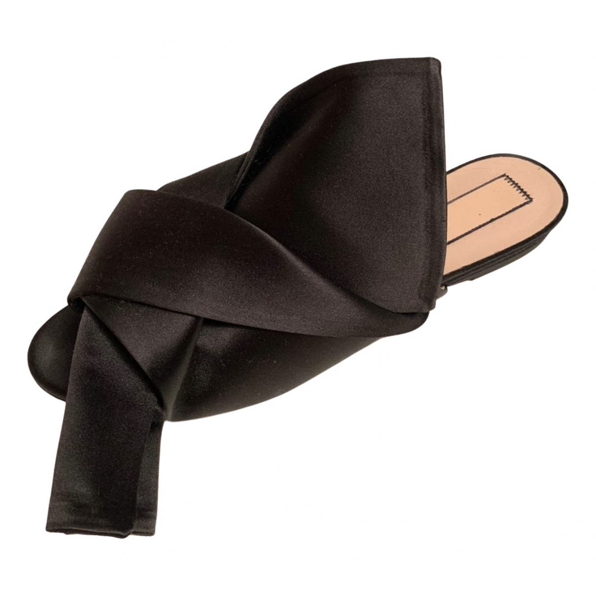 N°21 \N Black Cloth Sandals for Women 39 EU