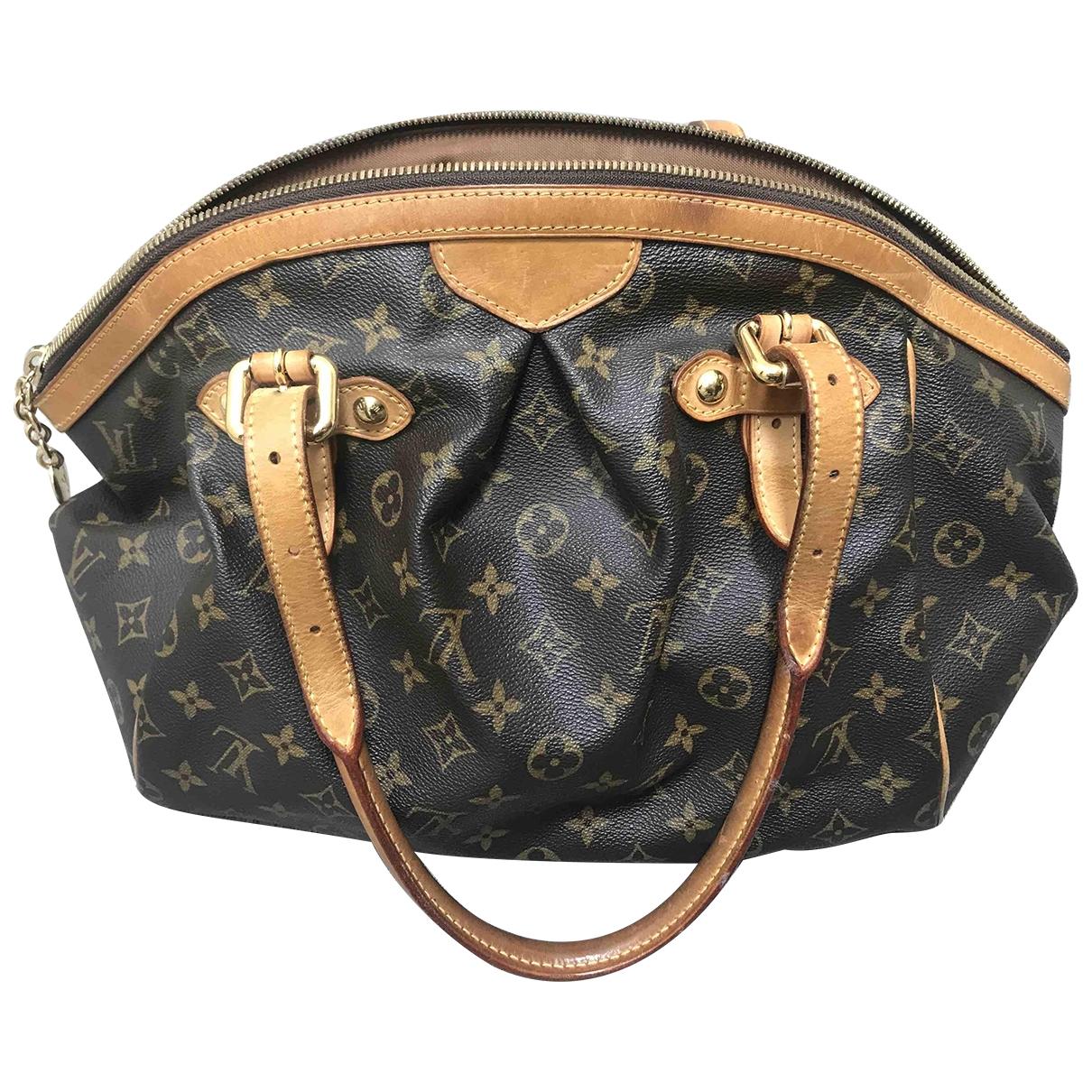 Louis Vuitton Tivoli Handtasche in  Braun Leinen