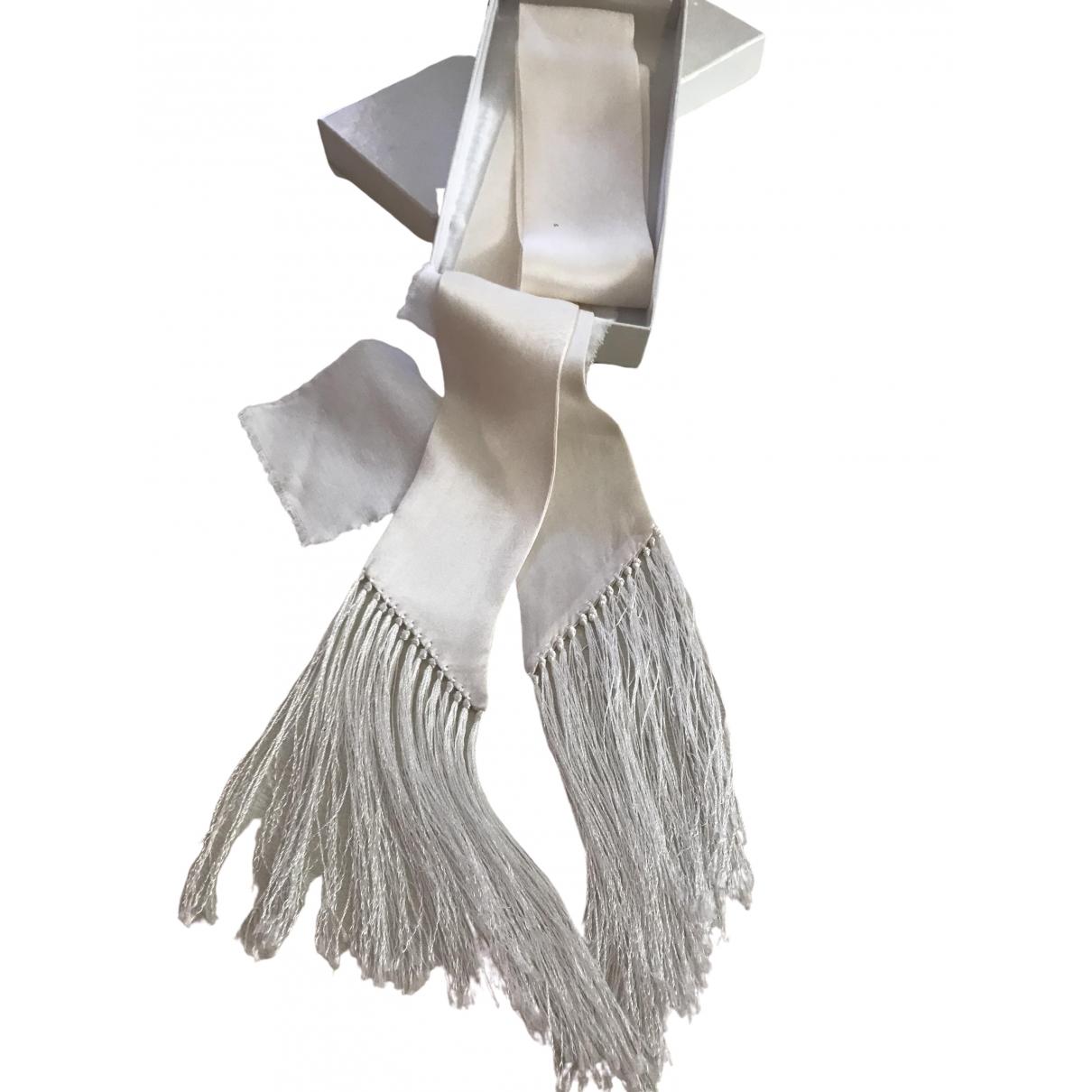 Maison Martin Margiela - Foulard   pour femme en soie - blanc