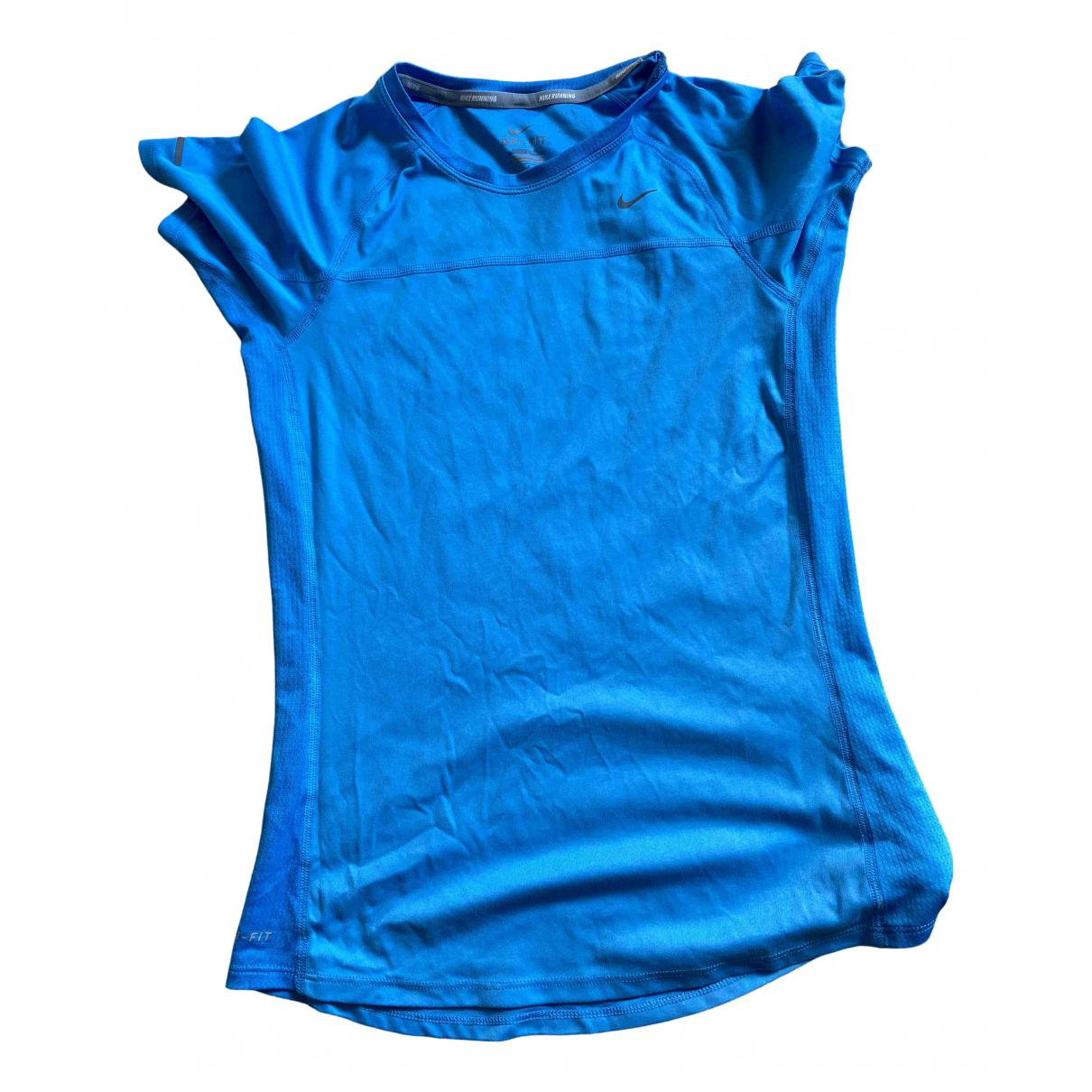 Nike \N Top in  Blau Baumwolle