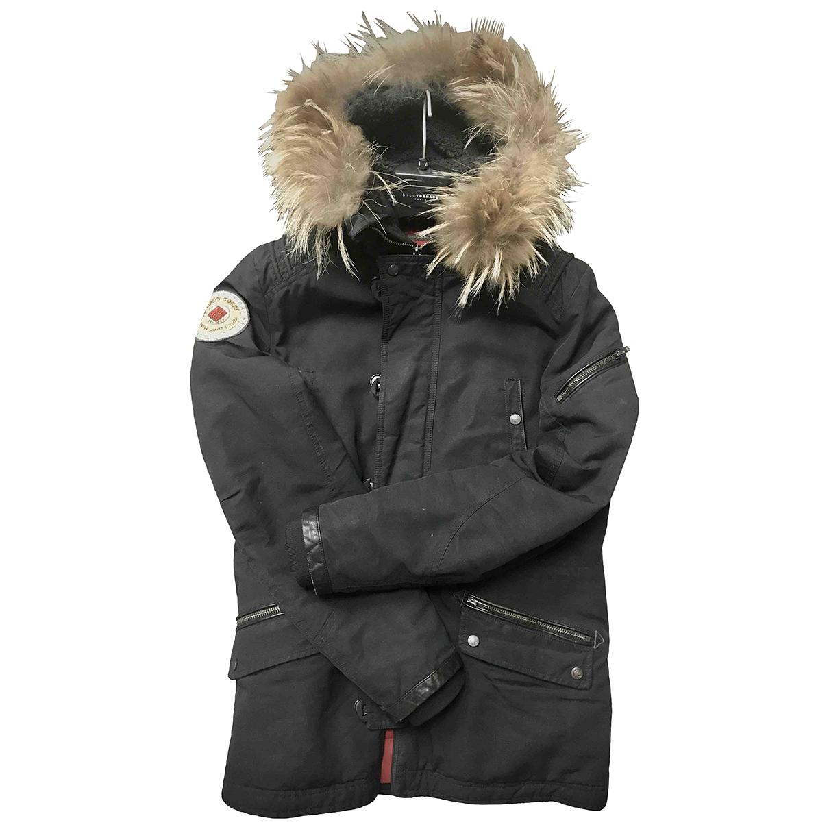 Ikks - Manteau   pour homme en coton - noir