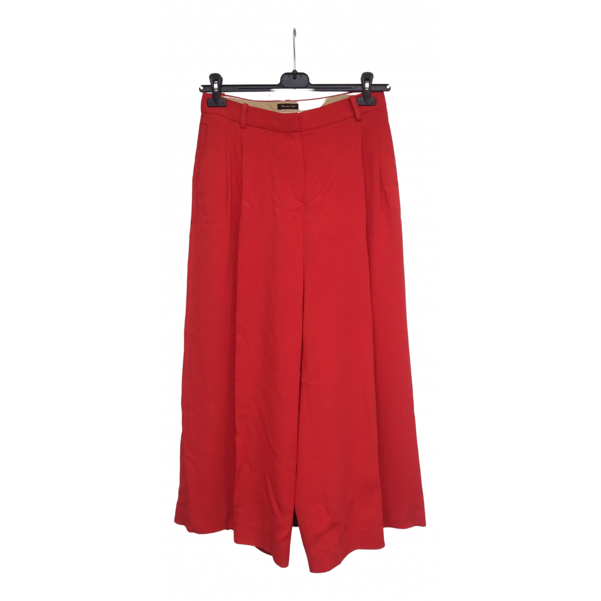 Massimo Dutti \N Hose in  Rot Polyester