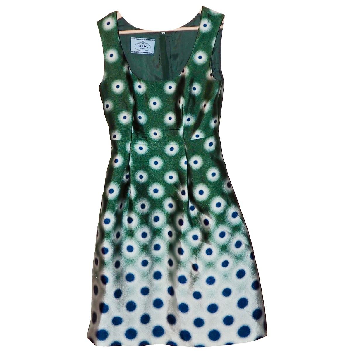 Prada - Robe   pour femme en soie - vert