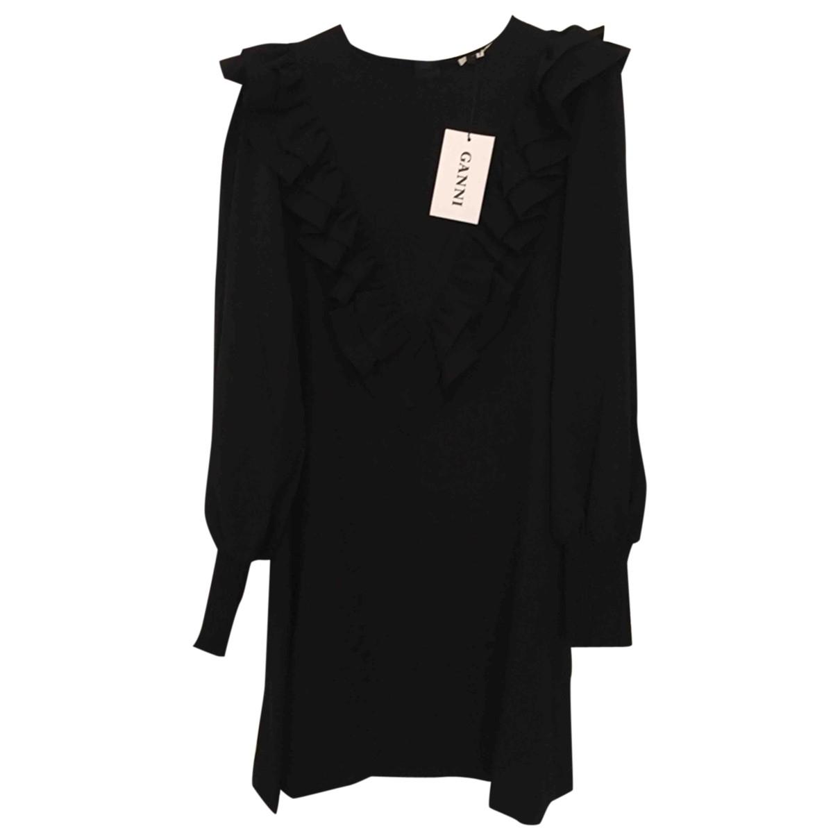 Ganni Spring Summer 2020 Black dress for Women 36 FR