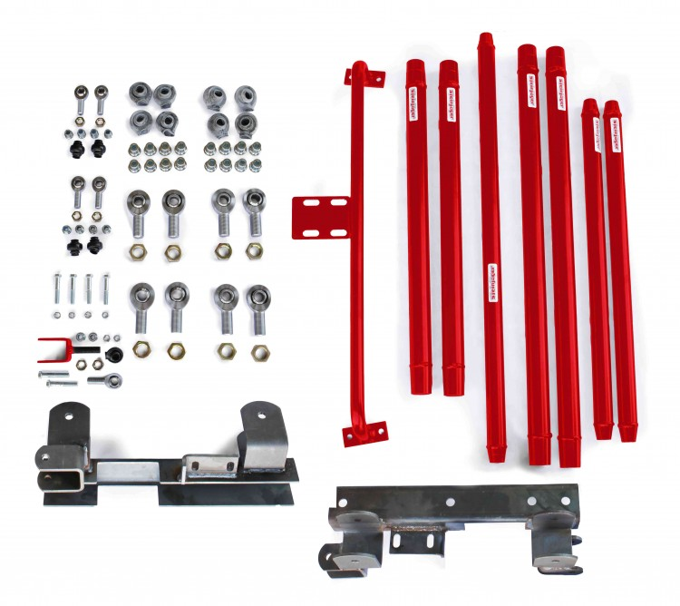 Steinjager J0046028 Long Arm Travel Kit Wrangler TJ 1997-2006 DOM Tubing Automatic Transmission Red Baron