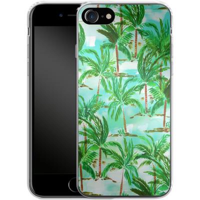 Apple iPhone 8 Silikon Handyhuelle - Palm Tree Green von Amy Sia