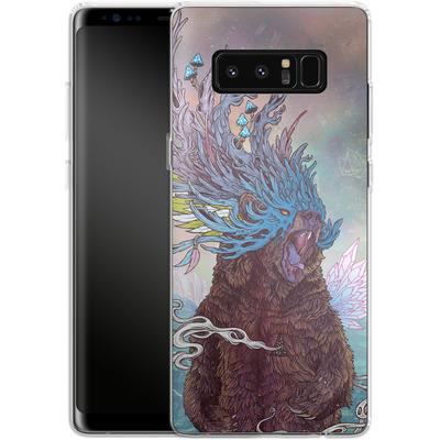 Samsung Galaxy Note 8 Silikon Handyhuelle - Journeying Spirit - Bear von Mat Miller