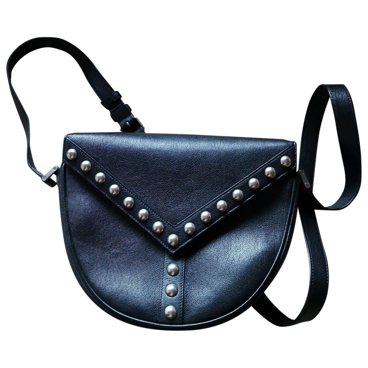 Saint Laurent Satchel Y studs Black Leather handbag for Women \N