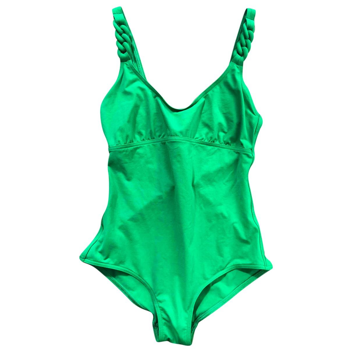 Eres \N Green Cotton - elasthane Swimwear for Women 42 FR