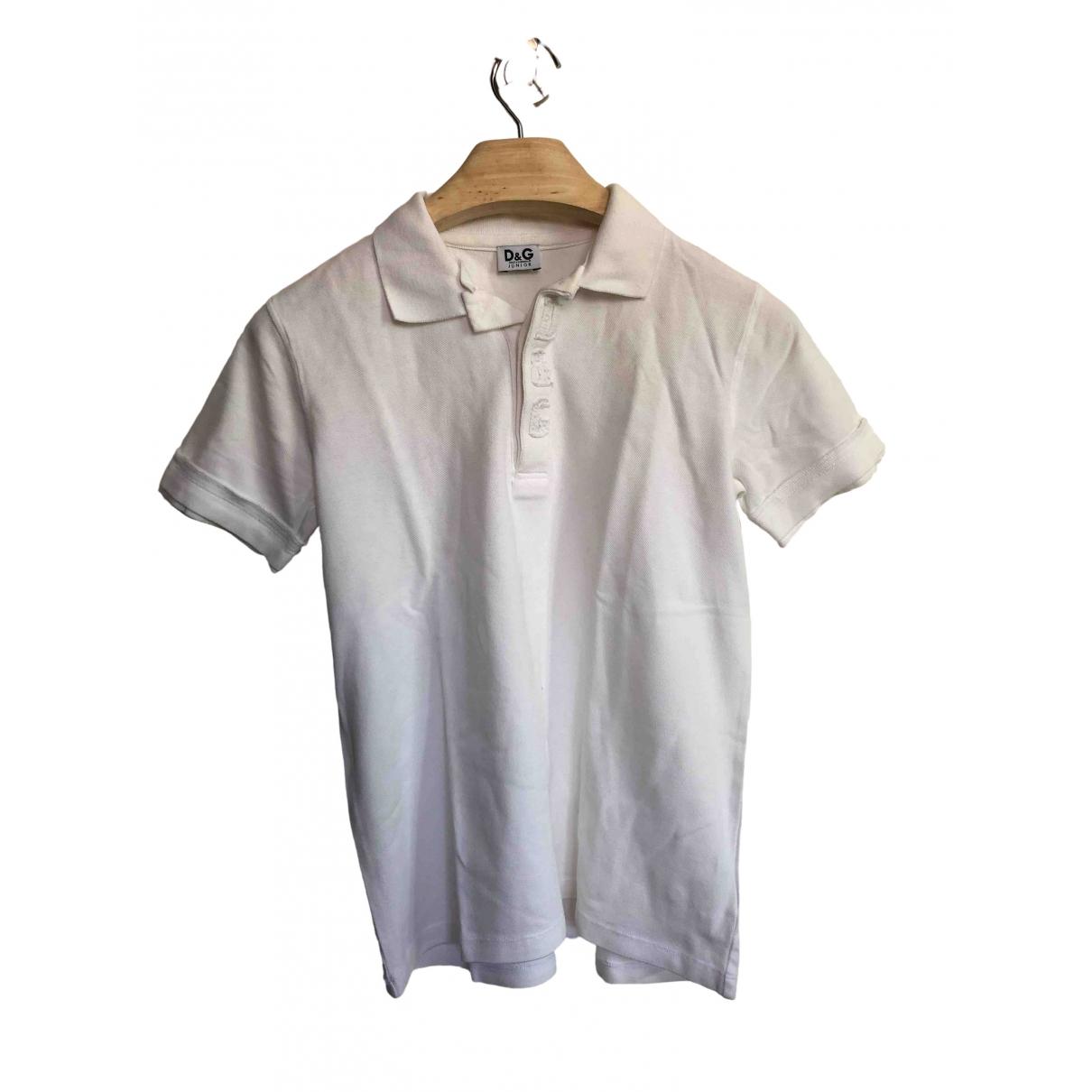 Camisetas en Algodon Blanco D&g