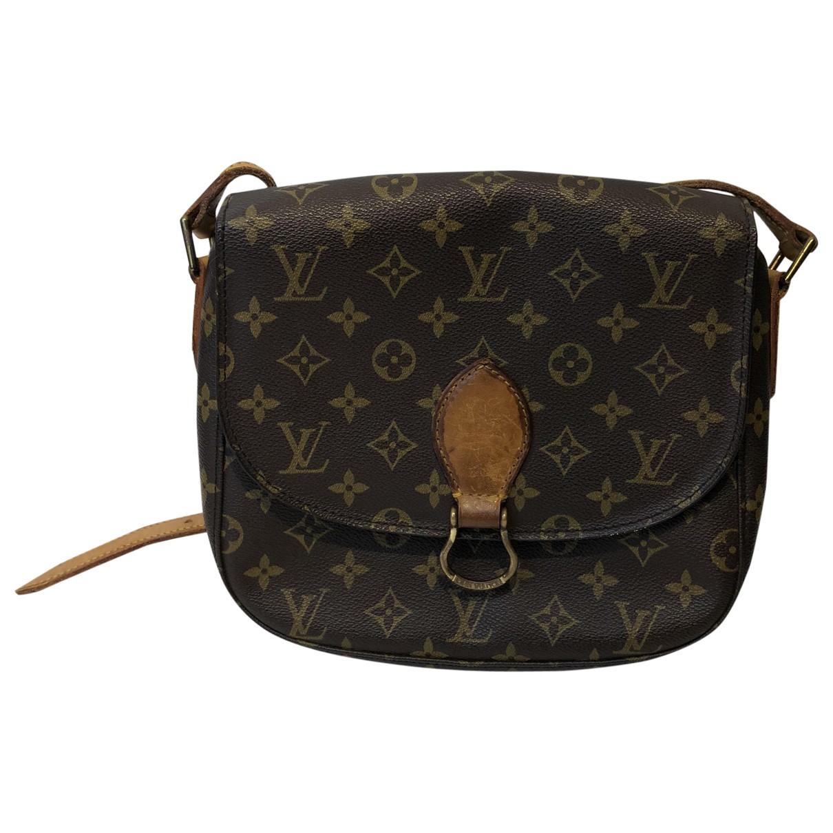 Louis Vuitton Saint Cloud vintage Handtasche in  Braun Leinen