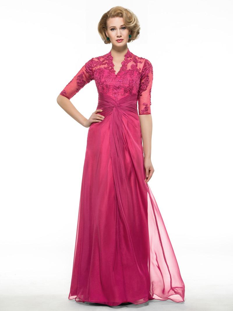 Ericdress Appliques Half Sleeve Mother Of The Bride Dress