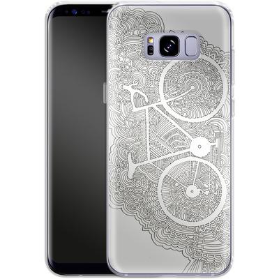 Samsung Galaxy S8 Plus Silikon Handyhuelle - Bike Drawing Meditation von Kaitlyn Parker