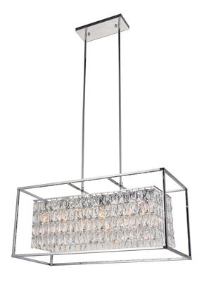 LA12 12-Light Chandelier with Iron Materials and 40 Watts in Chrome